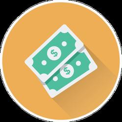 Paper Money Icon Sticker