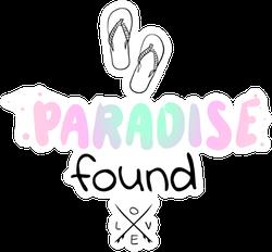 Paradise Found Sticker