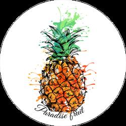 Paradise Fruit Splatter Pineapple Sticker