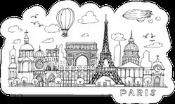 Paris  Doodles Sticker