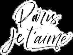 Paris Je T'aime Sticker