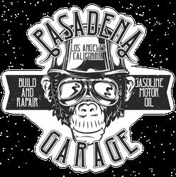 Pasadena Garage Monkey Sticker
