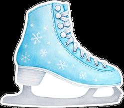 Pastel Blue Figure Skate Sticker