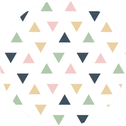 Pastel Pattern Of Geometrical Abstract Arrows Sticker