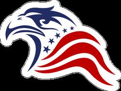 Patriotic American Eagle Sticker