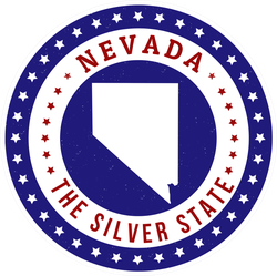 Patriotic Nevada State Sticker