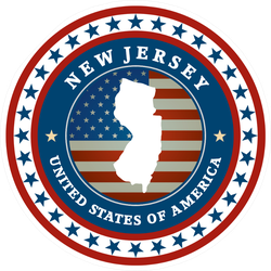 Patriotic New Jersey State Sticker