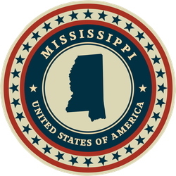 Patriotic Seal of Mississippi Sticker