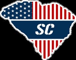 Patriotic South Carolina Sticker