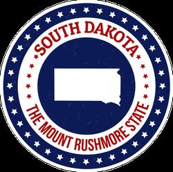 Patriotic South Dakota State Sticker