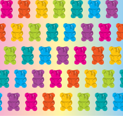 Pattern Gummy Bear Jelly Sticker