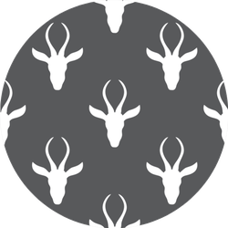 Pattern Of African Safari Antelope On Grey Sticker