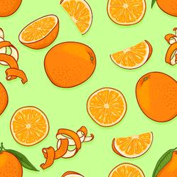 Pattern Of Cartoon Oranges Sticker