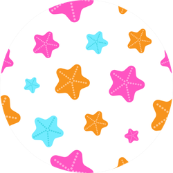 Pattern Of Cute Cartoon Starfish Sticker