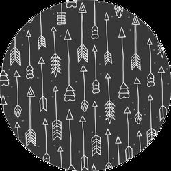 Pattern Scandinavian Style Arrows Sticker