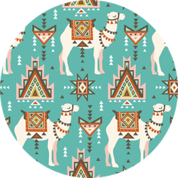 Pattern With Camels Desert Boho Sticker