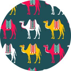 Pattern With Camels - Illustration Sticker