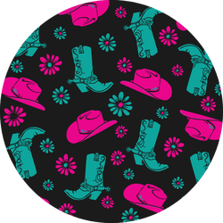 Pattern With Cowgirl Boots & Hat Sticker