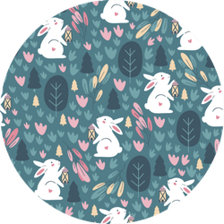 Pattern With Cute Rabbit Sticker