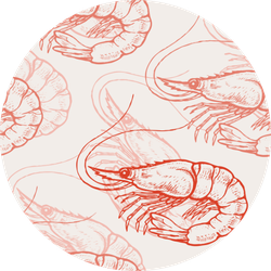 Pattern With Delicate Shrimp Sticker