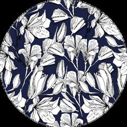 Pattern With Field, Garden Flower Lily Sticker