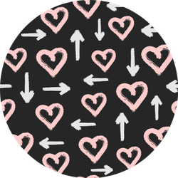 Pattern With Hearts And Arrows Sticker