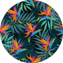 Pattern With Paradise Bird Flowers And Palms Sticker