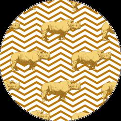 Pattern With Rhino Sticker