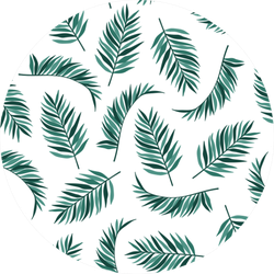 Pattern With Tropical Plants Modern Exotic Sticker