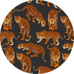 Pattern With Wild Cheetahs Sticker