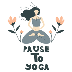 Pause to Yoga Illustration Sticker