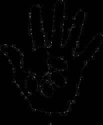 Paw Holding Hand Sticker