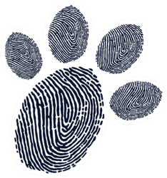 Paw Print Finger Print Design Sticker