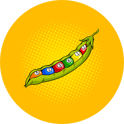 Pea Pod With Billiard Balls Pop Art Sticker