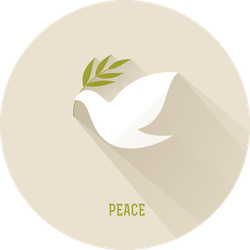 Peace Dove With Olive Branch On Neutral Background Sticker