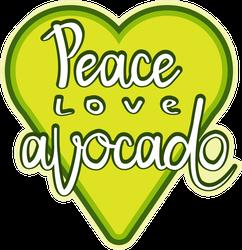 Peace, Love, Avocado Sticker