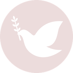 Peace Pigeon Dove, Purity Symbol On Pink Sticker