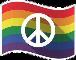 Peace Pride Flag Sticker