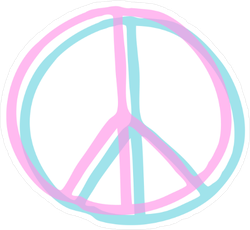 Peace Sign Doodle Icon Sticker