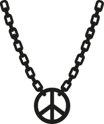 Peace Sign Necklace Sticker