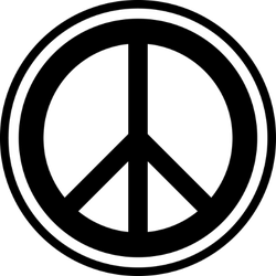 Peace Sign Outline Sticker