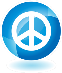 Peace Sign Web Button Sticker