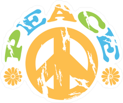 Peace Sign with Text Sticker
