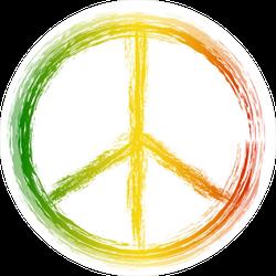 Peace Symbol Painted Sticker