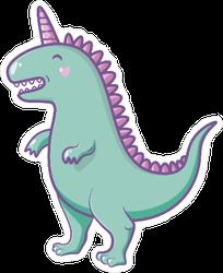 Peaceful Dinosaur Unicorn Sticker