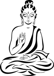 Peaceful Meditating Buddha Sticker