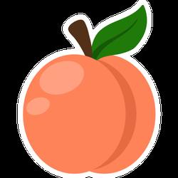 Peach Illustration Georgia Sticker