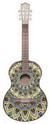 Peacock Decorated Guitar Sticker