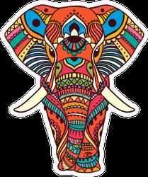 Peacock Elephant Sticker