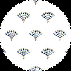 Peacock Fan Seamless Pattern Sticker